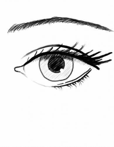 Eye Sketch on Mobile Phone