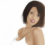 Adding hair and darkening face
