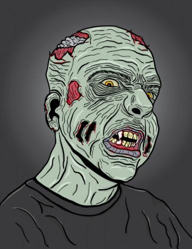 Zombie Head - 3/4 View